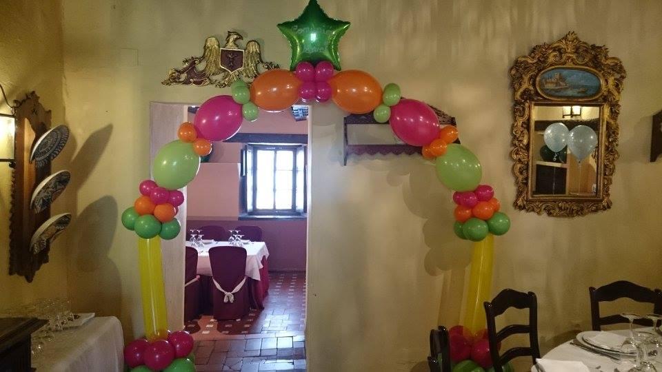 Arco globos comunión Córdoba