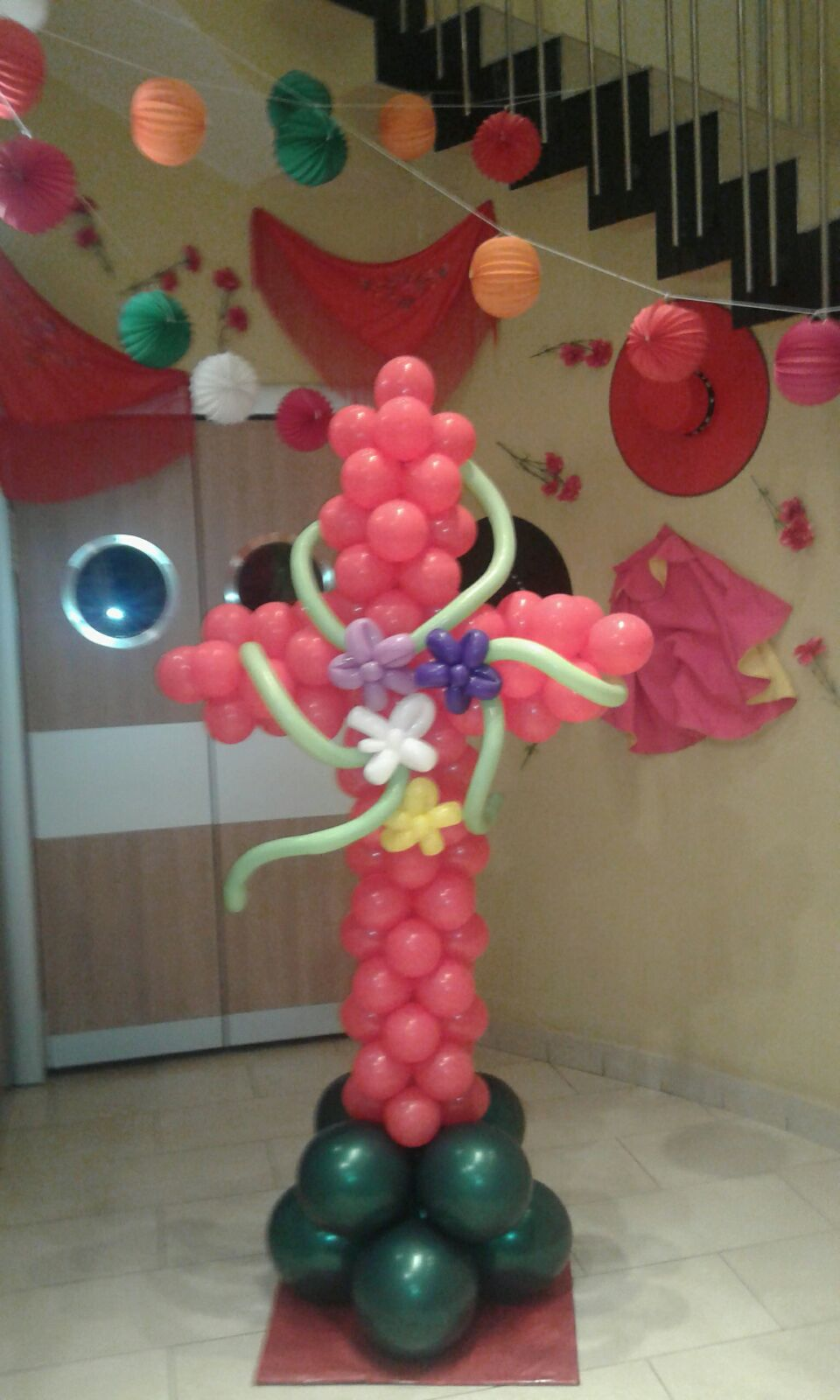 Cruz de mayo globos Córdoba